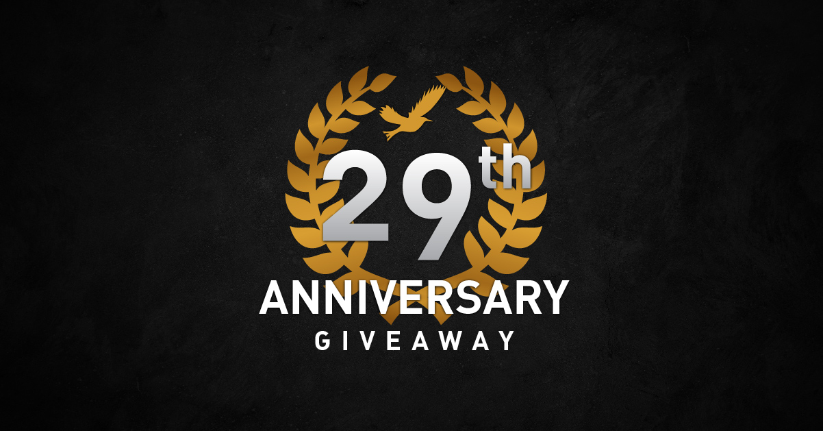29th ANNIVERSARY GIVEAWAY